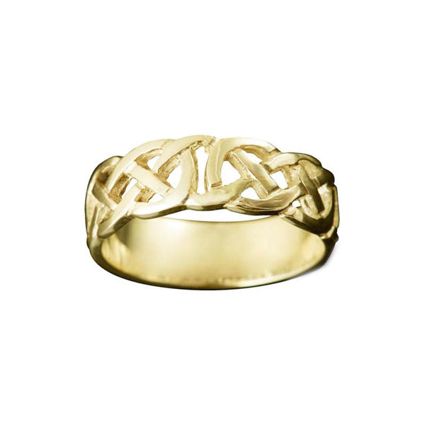 Vaila Celtic Knotwork Ring in Yellow Gold