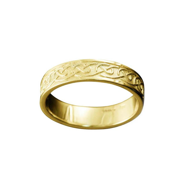 Mousa Celtic Knotwork Ring in Yellow Gold