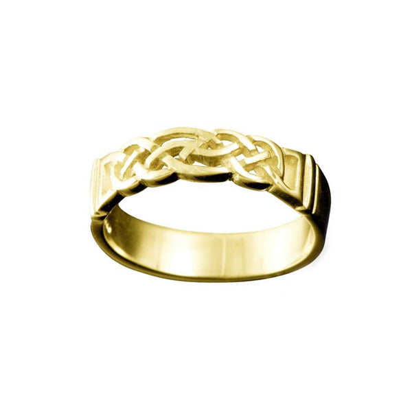 Linga Celtic Knotwork Ring Yellow Gold