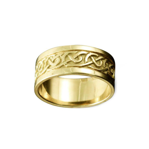 Noss Celtic Knotwork Ring Yellow Gold