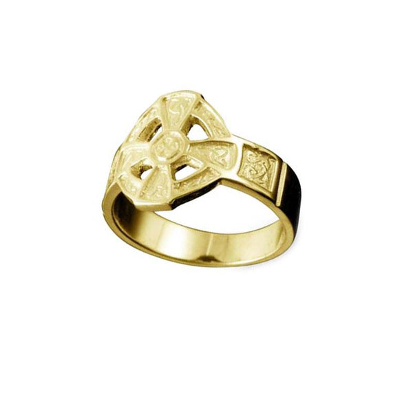 Hildasay Celtic Cross Ring in Yellow Gold