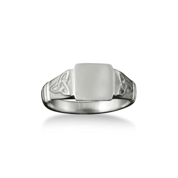 Small Celtic Trinity Knot Signet Ring