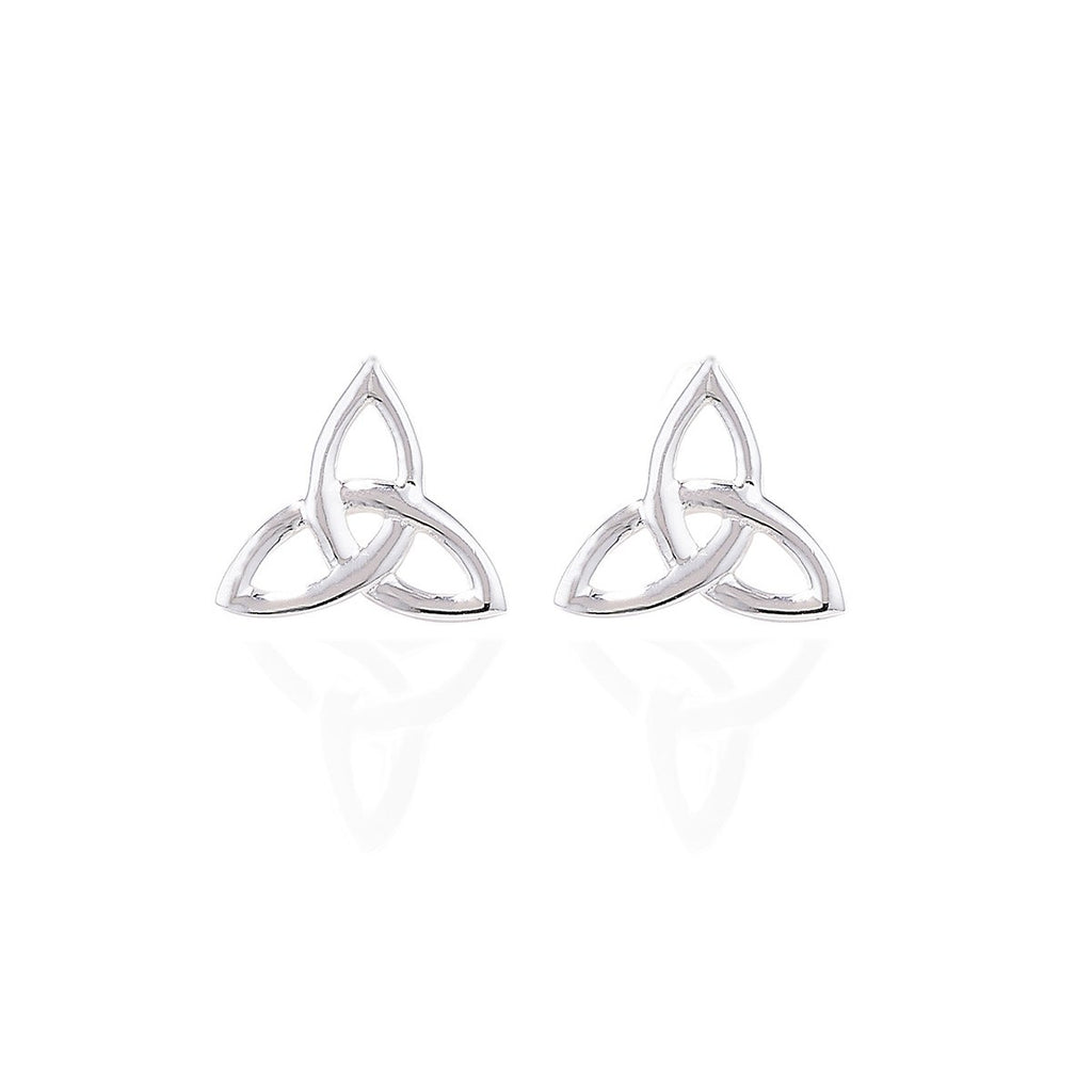 Sterling Silver Trinity Simple Stud Earrings