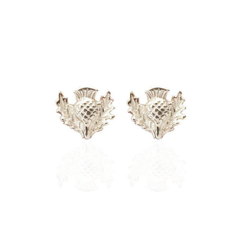 Small Thistle Studs in Silver