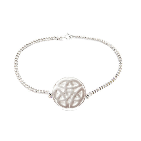 Celtic Knot work Solid Round Bracelet
