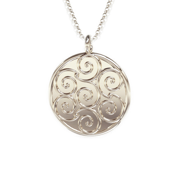 Celtic Spirals Pendant in silver
