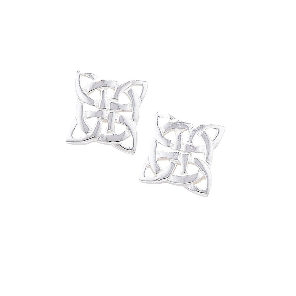 Sterling Silver Celtic Square Studs