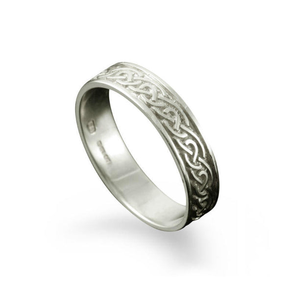 St. Ninian's Celtic Knotwork Ring in Silver