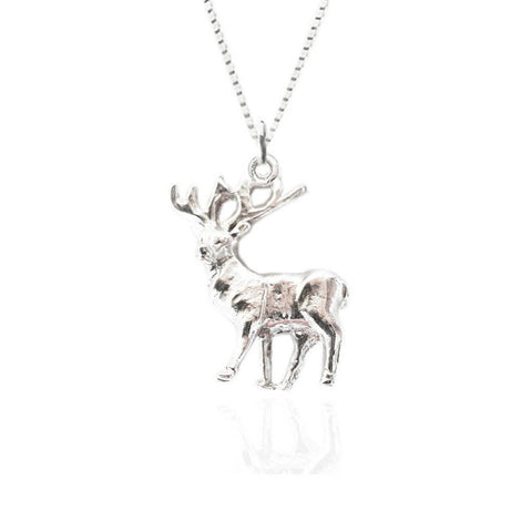 Stag Pendant in Silver
