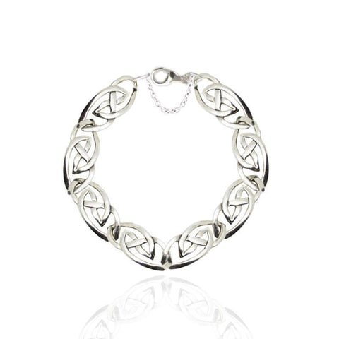 Celtic Interlace Bracelet in Silver