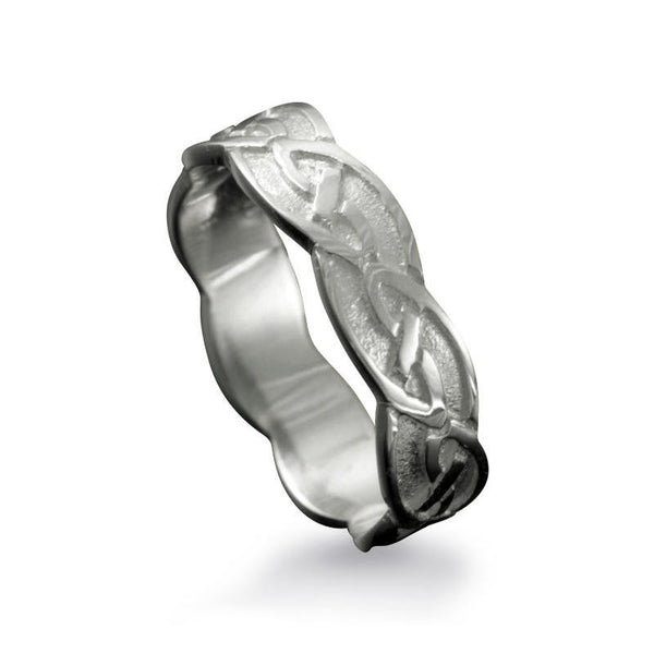 Fetlar Celtic Knotwork Ring in Sterling Silver