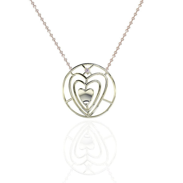 Everlasting Love Sweetheart Necklace with Sapphire