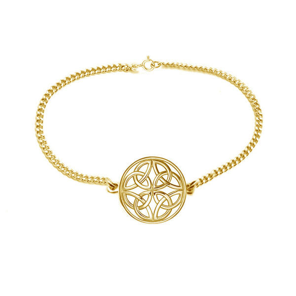 Four Trinity Celtic Knot Eternal Round Bracelet in gold-jn-78-g