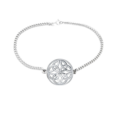 Four Trinity Celtic Knot Eternal Round Bracelet