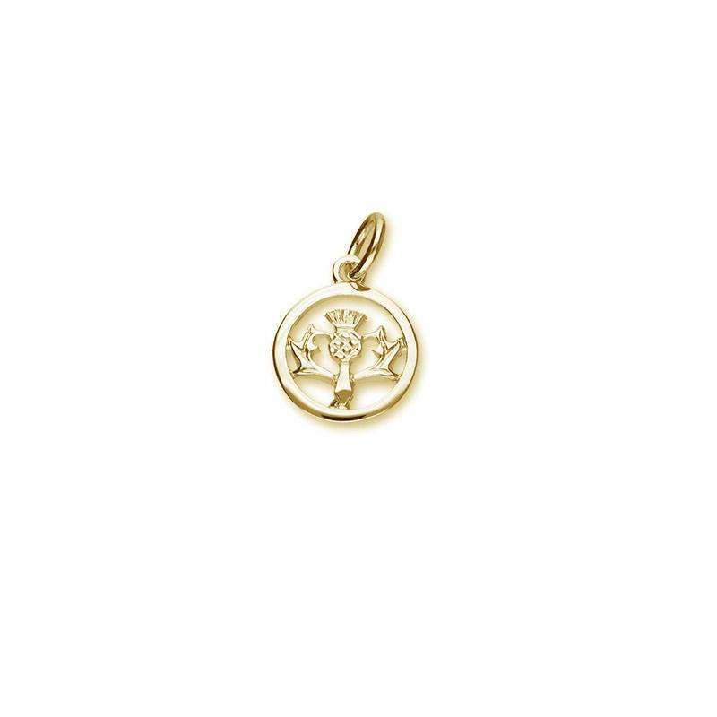Thistle Charm In Gold