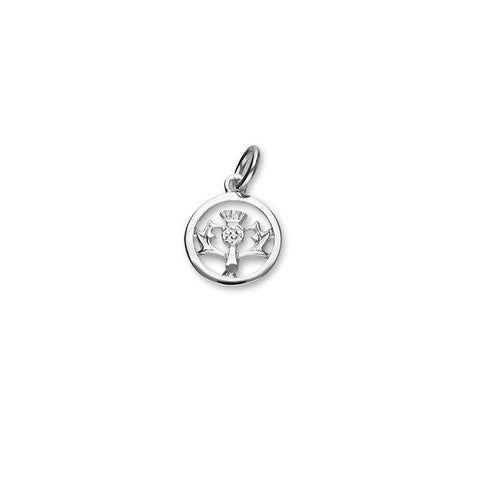Thistle Charm In Silver