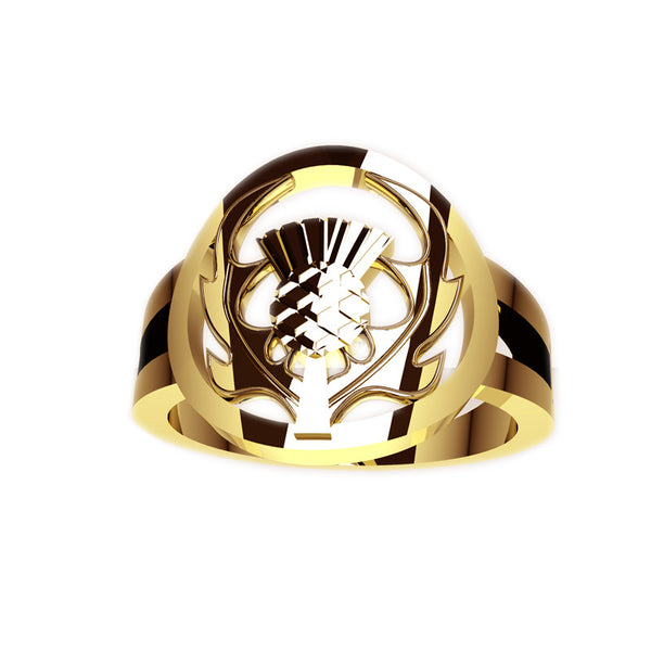 Edinburgh Scottish Thistle Signet Ring