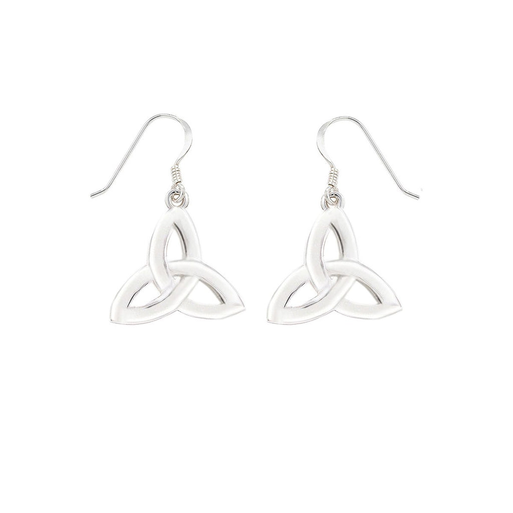 Sterling Silver Trinity Drop Earrings