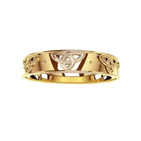 Trinity Knot Wedding Ring in Gold