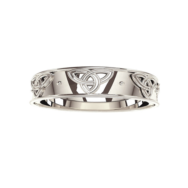Trinity Knot Wedding Ring in White Gold- Tappit Hen Gallery
