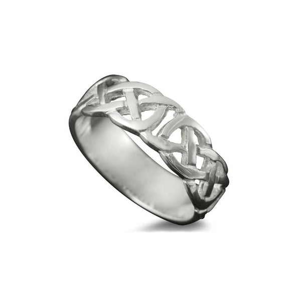 Vaila Celtic Knotwork Ring in Sterling Silver