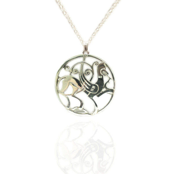 Large Viking Shetland Quendale Beast Pendant in Silver