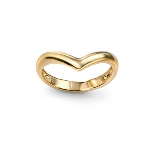 Elegant Wishbone Ring in Yellow Gold