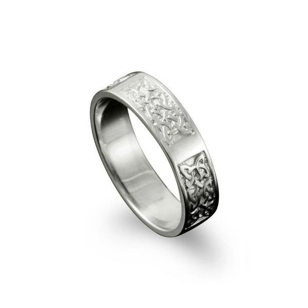 Whalsay Celtic Knotwork Panel Ring Sterling Silver