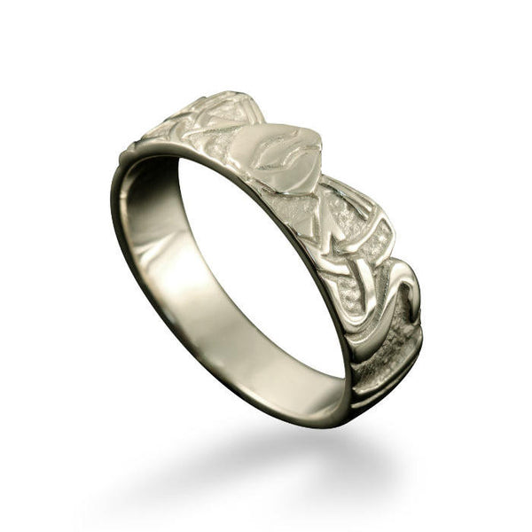 Norse Three Norns Ring White Gold