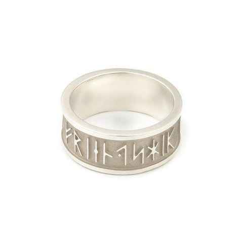 Wide Runic Friendship Ring