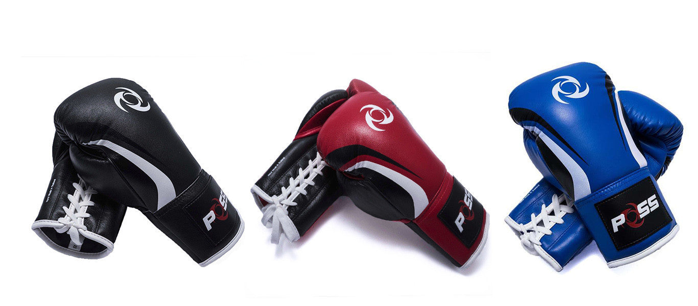 POSS Retro Elite Kickboxing Gloves with Lace up