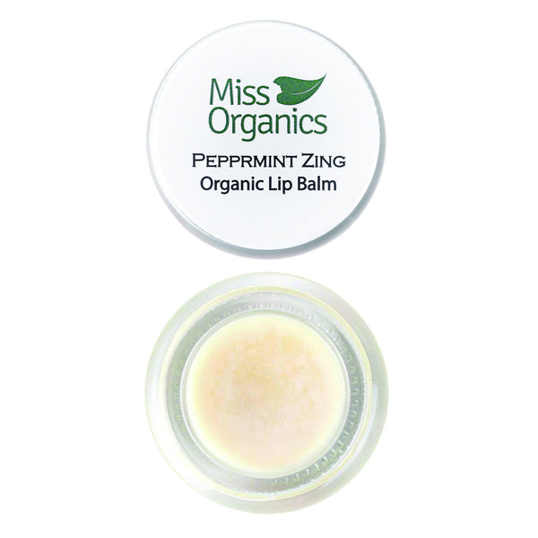Peppermint Zing Organic Lip Balm 100% Natural