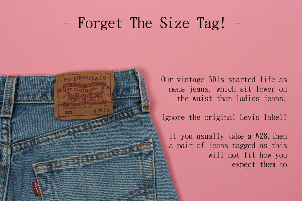 Our Vintage Levi S 501s Size Guide For Gals Blue Rinse Vintage