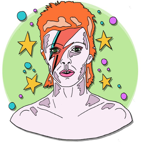 david bowie louisa foley illustration vintage