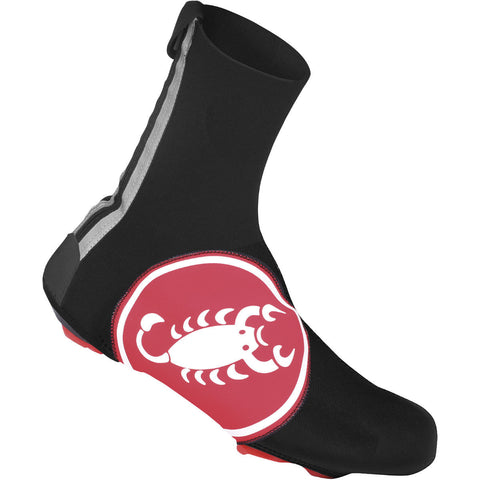 Castelli Diluvio Shoecover 16 Black Red Scorpion