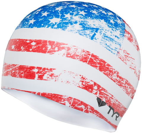 Tyr Old Glory Flag Swim Cap - Triathlon Point