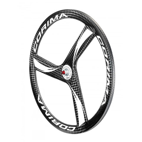 "Corima Front 3 Spoke HM Carbon Wheel 28"" 700C Tubular"