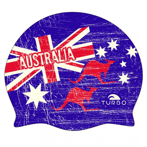Turbo Australia Kangaroo Silicone Swim Cap - Triathlon Point