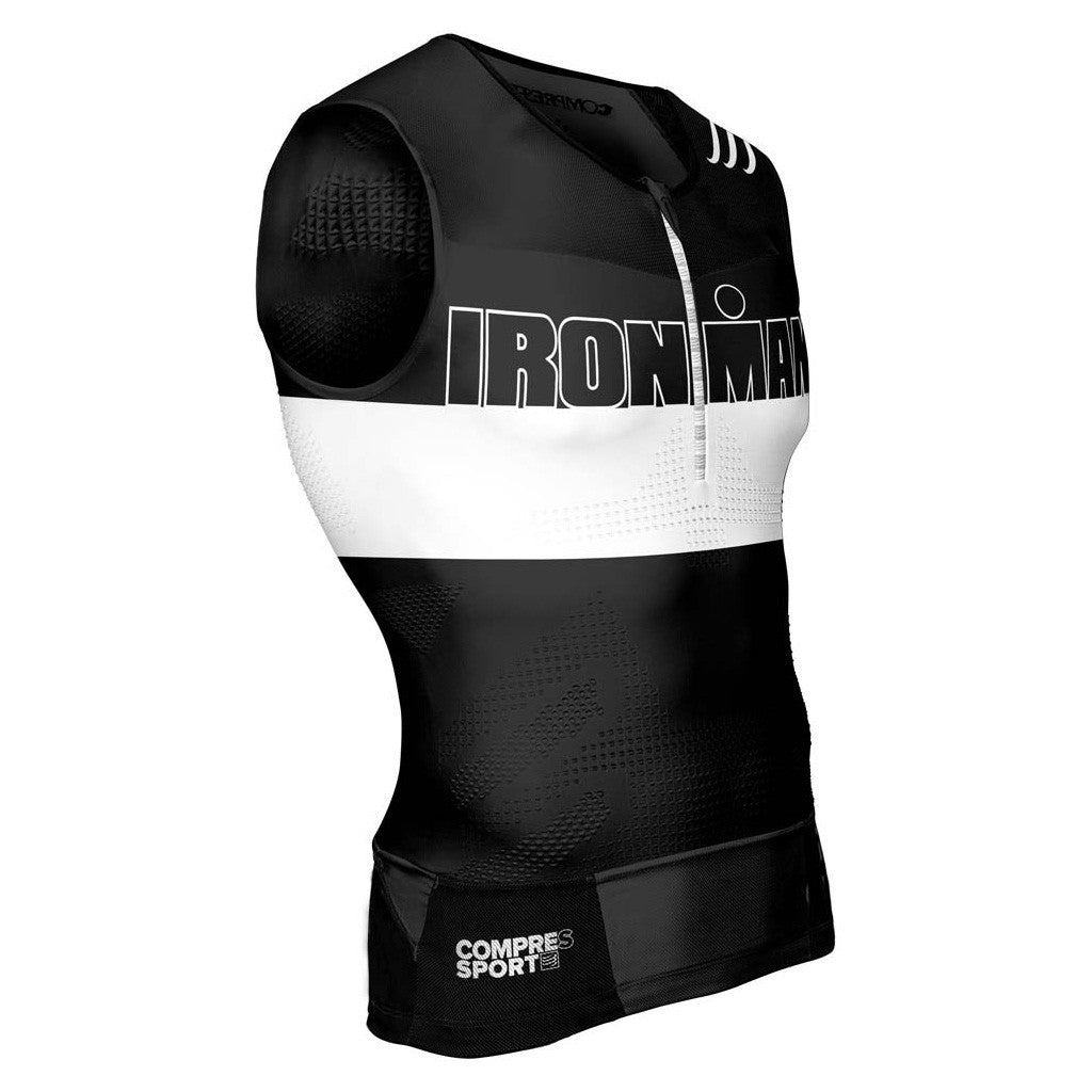 Compressport Men's TR3 Tank Top Ironman Stripes - Triathlon Point