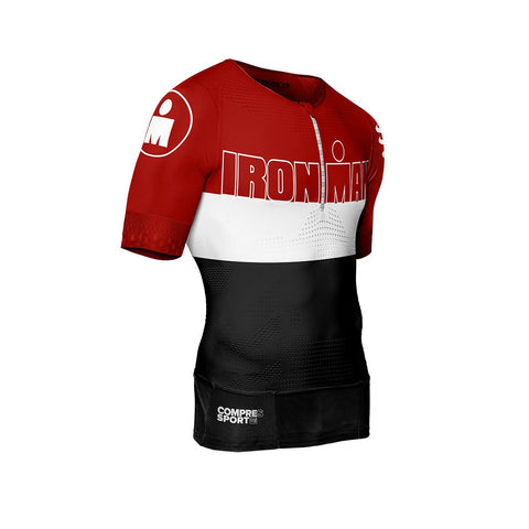 Compressport Men's TR3 Aero Top Ironman Stripes