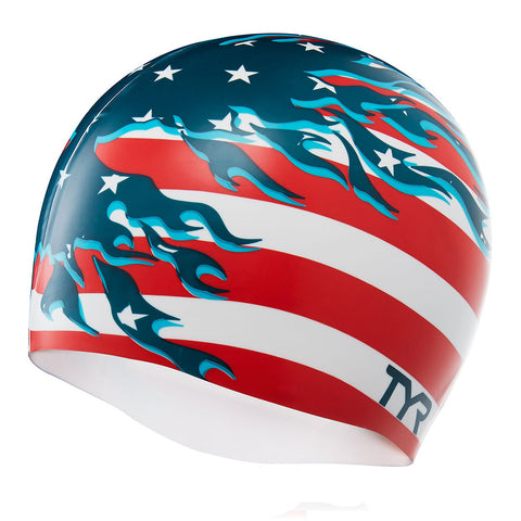 Tyr Blazing Patriot Swim Cap