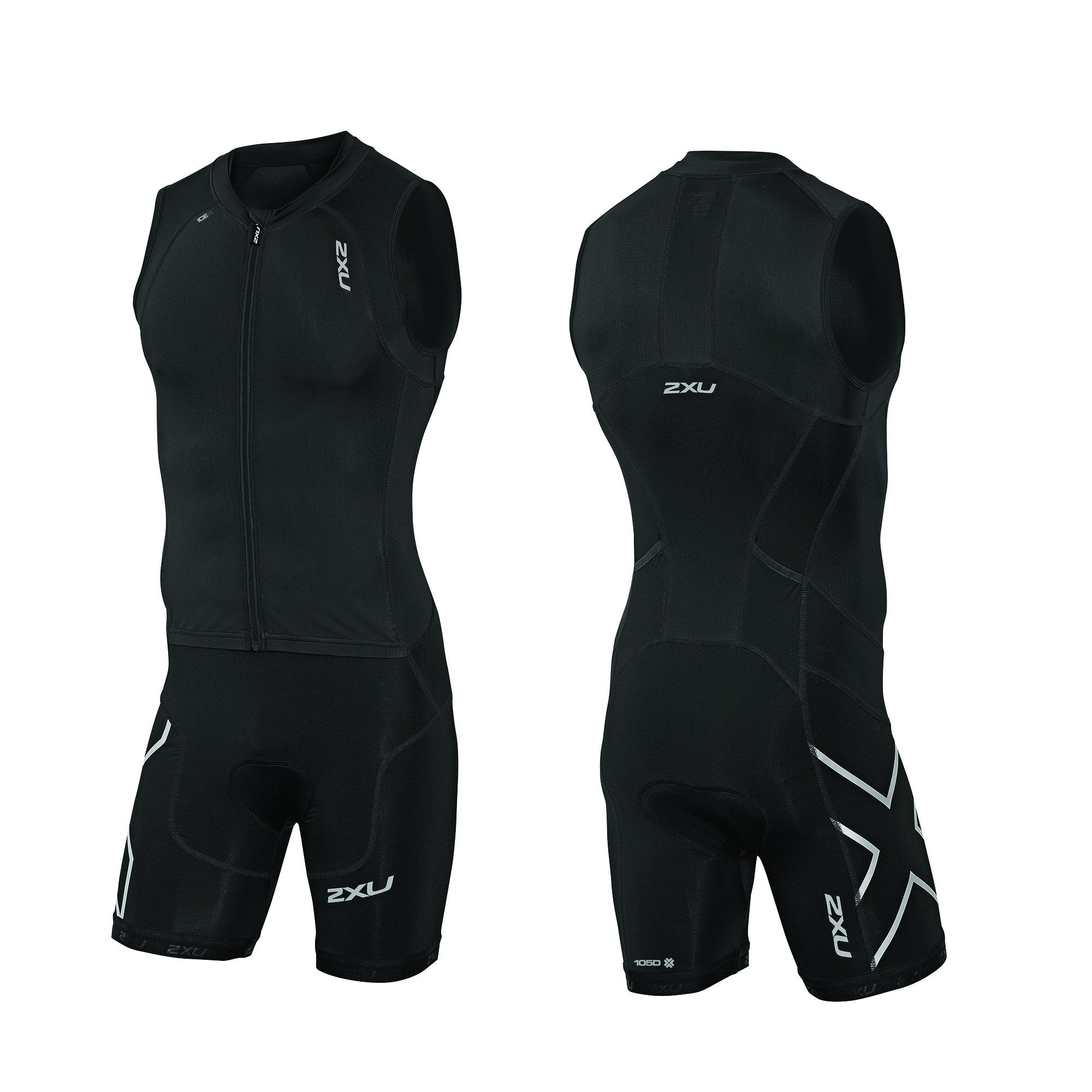 2XU Men's Compression Full Zip Trisuit MT3614D