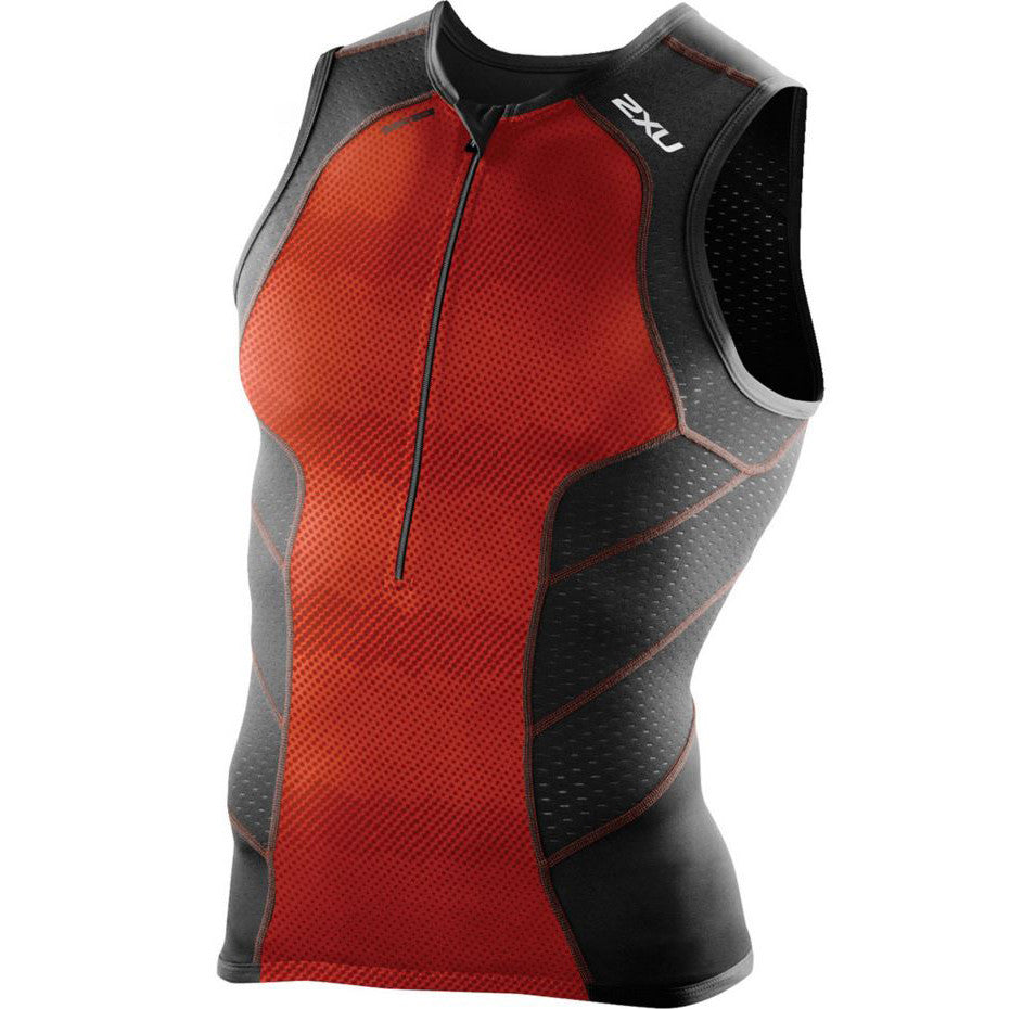 2XU Men's Perform Tri Singlet MT3861A - Triathlon Point