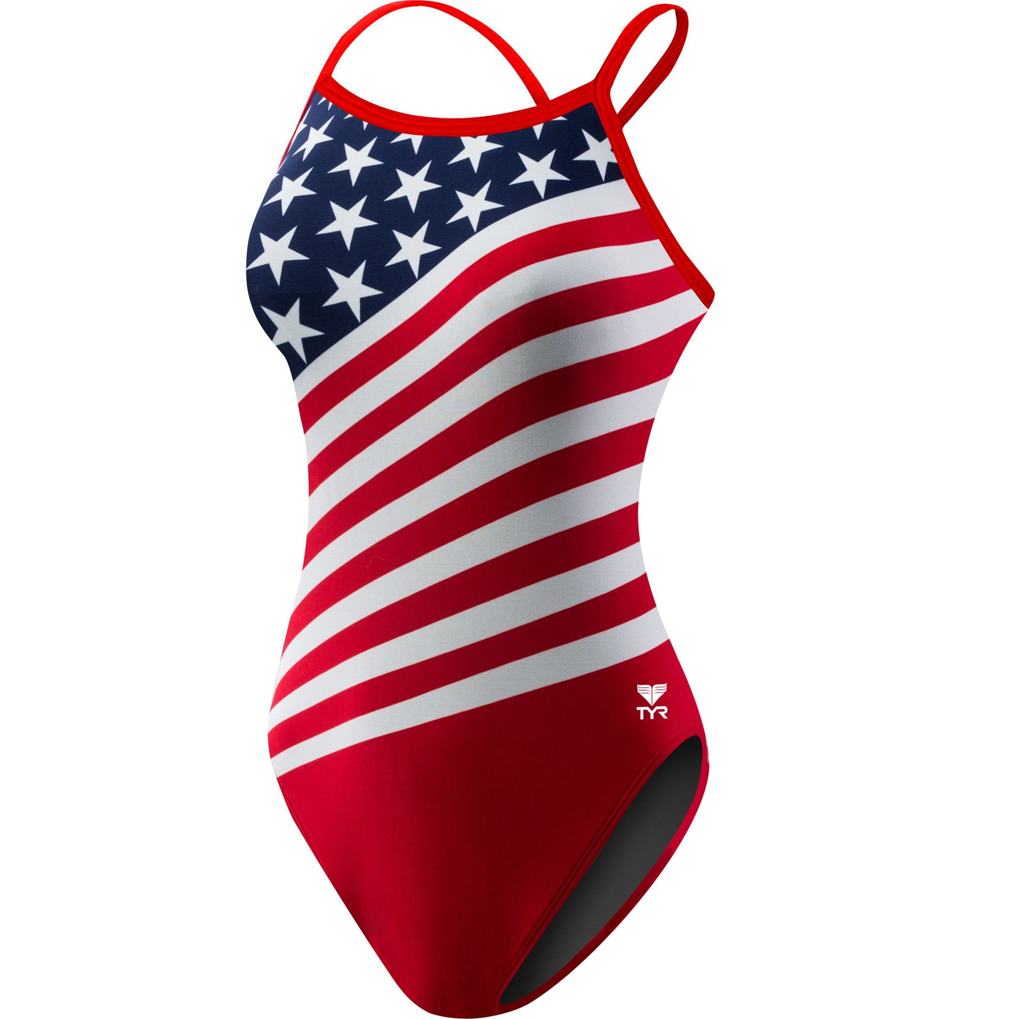 Tyr Women's Stars and Stripes Crosscutfit Swimsuit - Triathlon Point