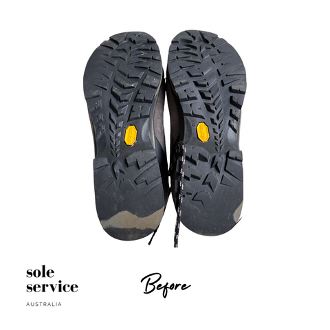 Csarpa hiking boot damaged rubber sole