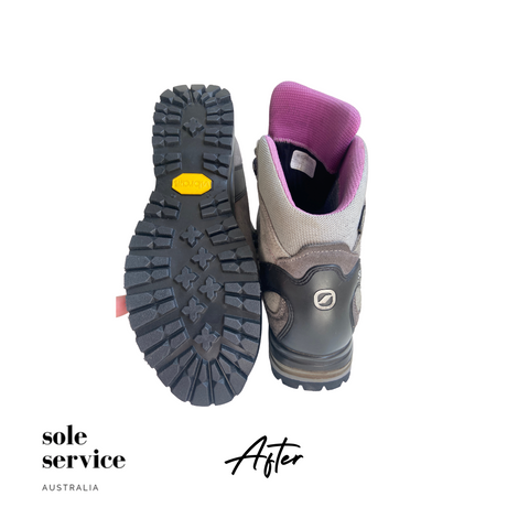 Csarpa hiking boot sole replacement - New Vibram sole by Sole Service