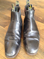 Before RM Williams boot repair