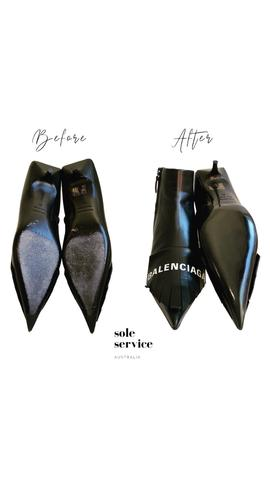 Balenciaga Topy sole before and after by Sole Service