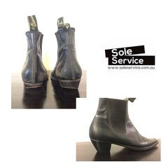 RM Williams full leather resole and reheel Sole Service