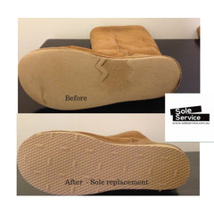 Ugg Boot sole replacement before and after Sole Service